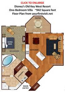 master bedroom and bath floor plans overview of accomodations at disney 39 s key west resort