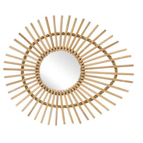miroir en rotin miroir rotin naturel vintage ellipse