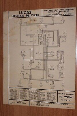 Morri Minor Wiring Diagram by Morris Minor Travellers Car Woody 1953 54 Lucas Wiring