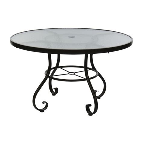 round table pizza cypress 48 inch ramsgate aluminum round umbrella table with