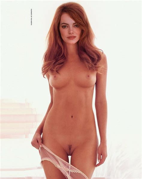 Emma Stone Poses Fully Nude For Playboy Nude Ikons