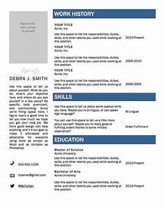 Free Microsoft Word Resume Template  U2014 Superpixel