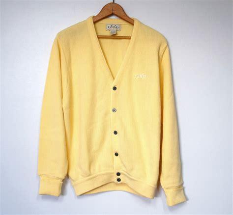 yellow cardigan sweater izod sweater 39 s golf cardigan yellow size medium sweaters