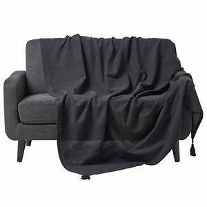 Canapé Noir Pas Cher : jete de canape achat vente jete de canape pas cher cdiscount ~ Dode.kayakingforconservation.com Idées de Décoration