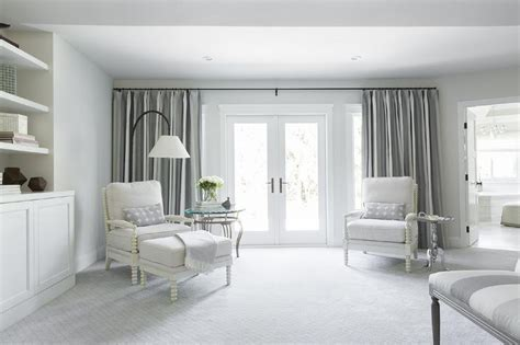 White and Grey Bedroom Sitting Area   Transitional   Bedroom