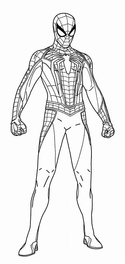Suit Advanced Comment Spider Coloring Superhero Marvel