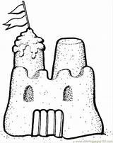 Castle Sand Coloring Printable Buildings Architecture Sandcastle sketch template