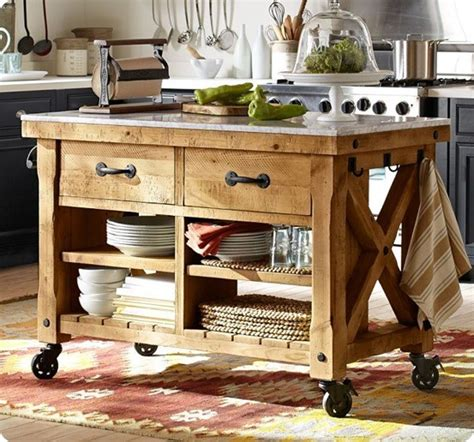 wooden kitchen islands rustic wood kitchen island with casters