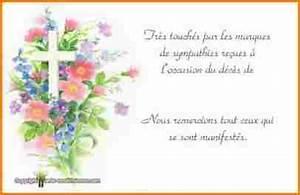 carte de remerciement deces cartes condoleances With chambre bébé design avec remerciement deces fleurs