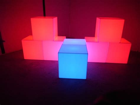 led light cube led changing color cubes made of solid acrylic display