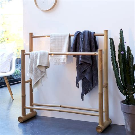 chaise porte serviette portant pour serviettes en bambou porte serviette naturel