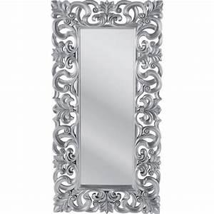 Miroir Baroque Argenté : miroir design italien baroque argent 180x90 achat vente miroir bois cdiscount ~ Teatrodelosmanantiales.com Idées de Décoration