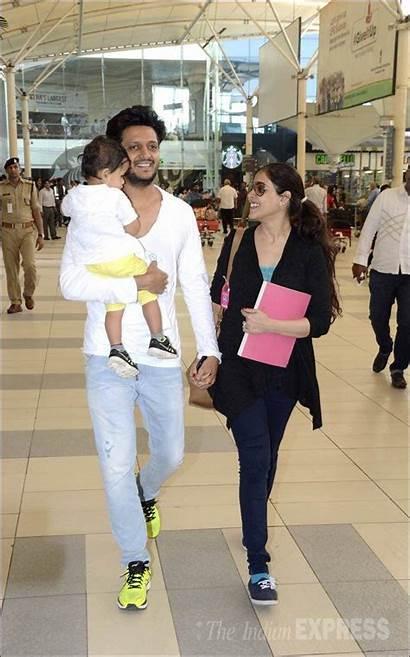 Genelia Souza Riteish Deshmukh Son Wife Airport