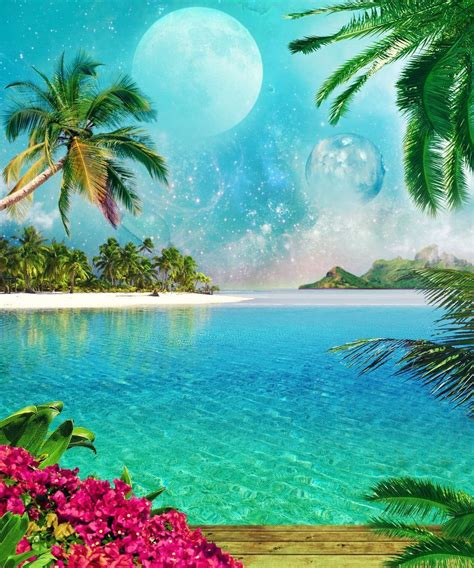 Scenery & Spring Pictures Paysage Tropical Photos