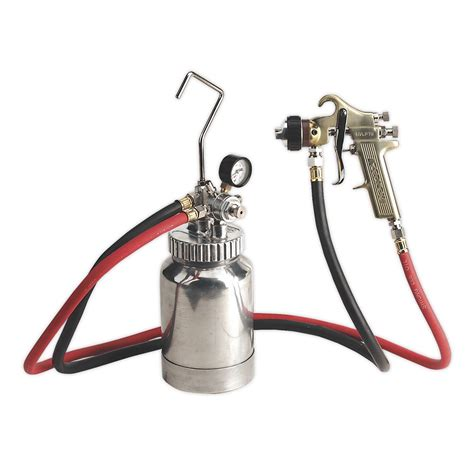 sealey hvlp p hvlp pressure pot system  spray gun