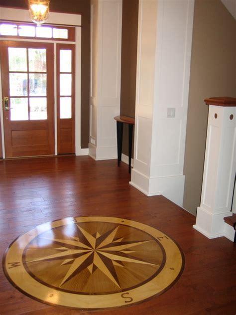 "Compass Rose Hardwood Floor Medallion   72"" Namaka Style"