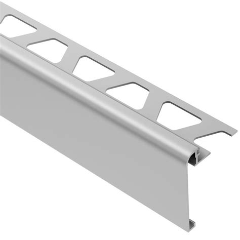 how to install schluter trim schluter rondec step satin anodized aluminum 3 8 in x 8 ft 2 1 2 in metal tile edging trim