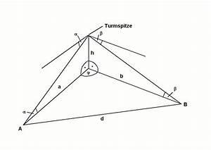 Trigonometrie Höhe Berechnen : trigonometrie onlinemathe das mathe forum ~ Themetempest.com Abrechnung