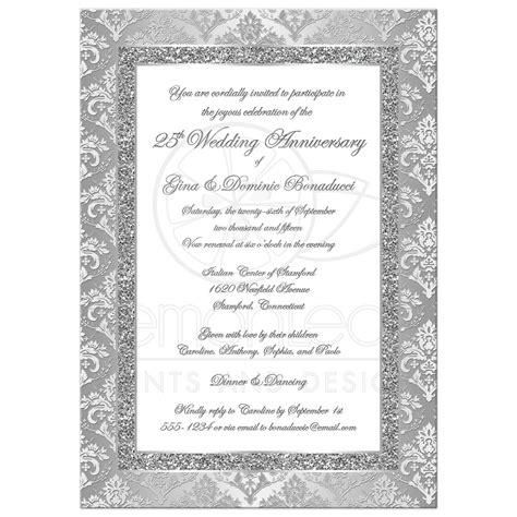 invitation card  silver jubilee wedding