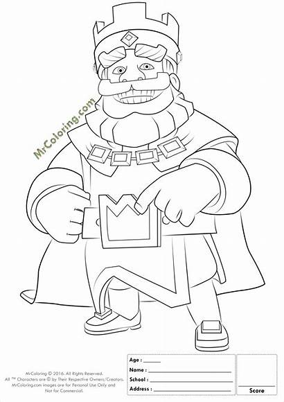 Clash Royale Coloring Royal Coloriage King Clans