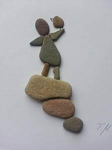 Basteln Mit Steinen : bild aus kieselsteinen m dchen von tamikra auf dawanda ~ Watch28wear.com Haus und Dekorationen