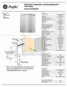 Download Free Pdf For Ge Pdw9280nss Dishwasher Manual