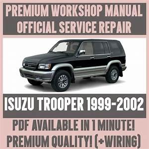 Workshop Manual Service  U0026 Repair Guide For Isuzu Trooper