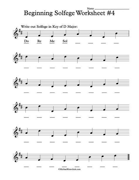 Free Solfege Worksheets For Classroom Instruction  Free Sheet Music  Pinterest Classroom