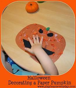 Halloween, -, Decorating, A, Paper, Pumpkin