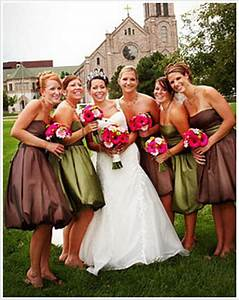 bridesmaid dresses colors With fall wedding colors bridesmaid dresses