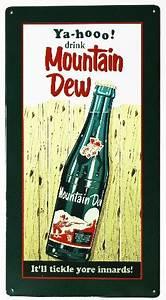 Plymouth Rock Insurance Company Yahoo Drink Mountain Dew Metal Sign Soda Cola Pop Coke