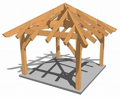 Gazebo Plans Pergola Timber Frame 12x12 Pavilion