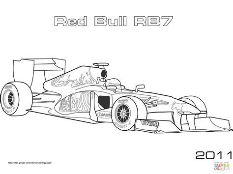 Kleurplaat Formule 1 Bull 2016 by Bull Rb7 Formula 1 Car Coloring Page Free Printable