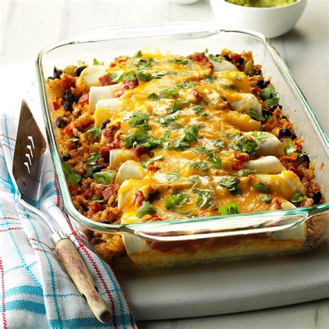 black bean  rice enchiladas recipe taste  home