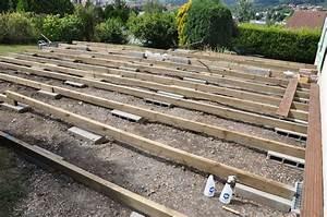 Support Terrasse Bois : fabriquer une terrasse en bois je fais moi m me ~ Premium-room.com Idées de Décoration