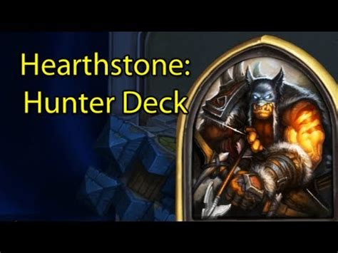 Hearthstone Ranked Hunterrexxar Deck With Wowcrendor
