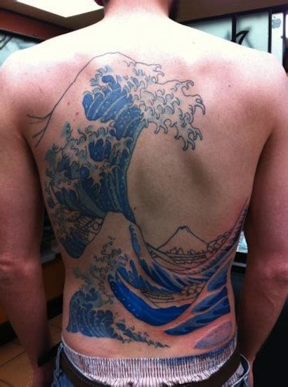 watercolor tattoos wave ideas flawssy