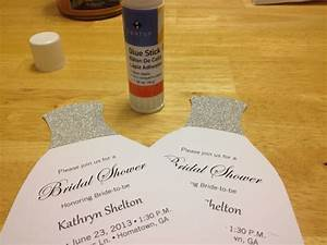 how to diy bridal shower invitations we tie the knots With diy wedding invitations glue