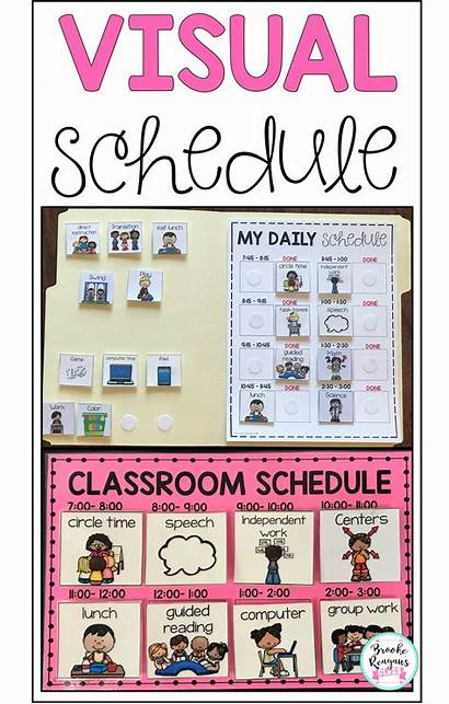 Visual Classroom Schedules Editable Schedule Special Education