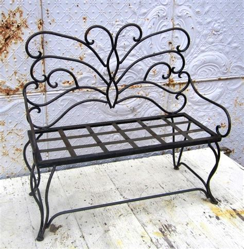 Wrought Iron Child's Butterfly Bench Metal Seating