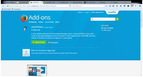 color picker firefox colorpicker add ons for firefox mozilla firef mcold s