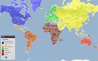 World Map Continents and Countries