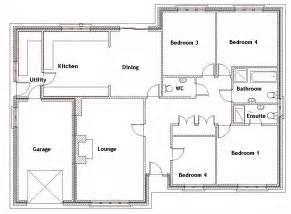Fresh House Plans by House Plans With 4 Bedrooms Marceladick