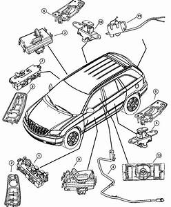 Chrysler Pacifica Switch  Door Module  Drivers Side  Trim