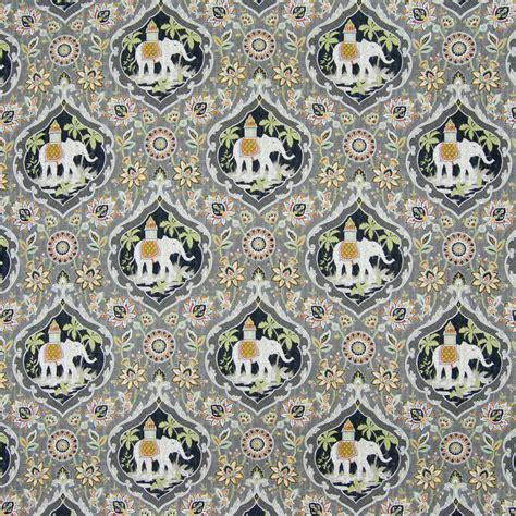 Dolphin Gray Animal Print Print Upholstery Fabric