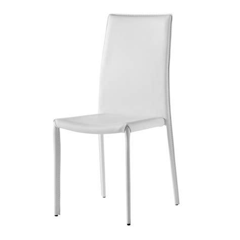 chaise simili cuir blanc chaise design simili cuir blanc gold