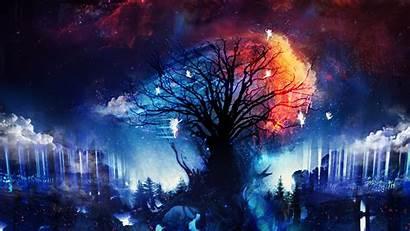 Cosmic Wisdom Tree Fantasy Wallpapers Desktop Deviantart