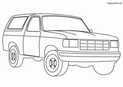 Coloring Cars Printable Colouring Sheets Suv Autos