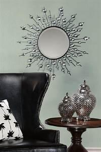 Diamond mirror wall mirrors wall decor home decor for Wall decor mirror home accents