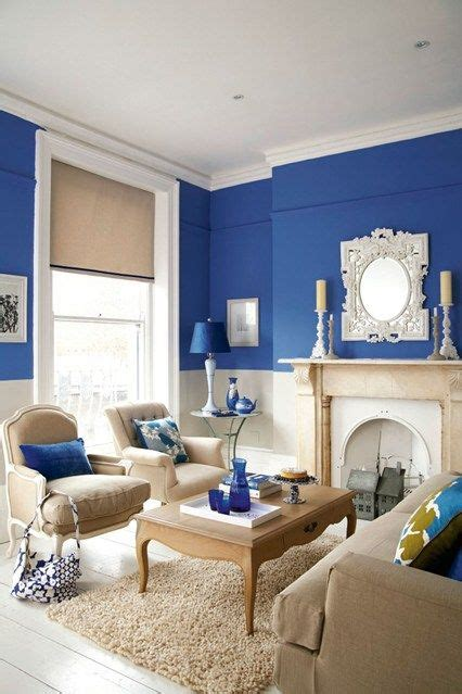 bright blue living room home decor living room paint